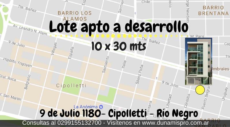 Foto Terreno en Venta en  San Pablo,  Cipolletti  9 DE JULIO 1180