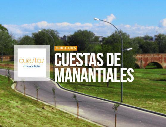 Foto Terreno en Venta en  Cuestas de Manantiales,  Cordoba Capital  Cuestas de manantiales