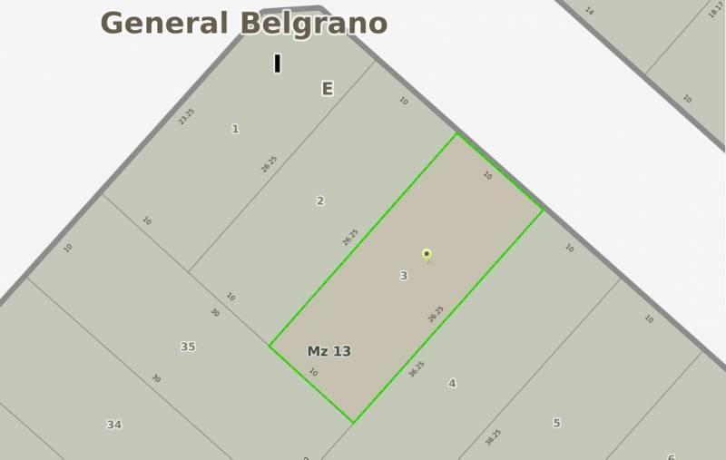 Foto Terreno en Venta en  General Belgrano,  General Belgrano  66 e/ 133 y 135 al 300