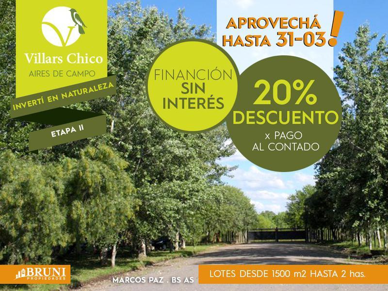 Foto Campo en Venta en  Marcos Paz ,  G.B.A. Zona Oeste  Villars Chico 2