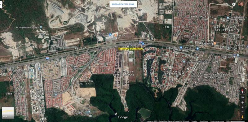 Foto Terreno en Venta en  Vía a la Costa,  Guayaquil  Via Guayaquil - Salinas Punta Esmeraldas Terreno Comercial 5816 m2