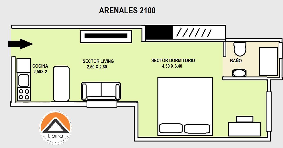 Foto Departamento en Alquiler temporario en  Recoleta ,  Capital Federal  Arenales al 2100