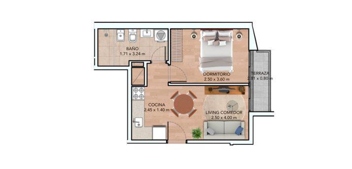 Foto Departamento en Venta en  La Blanqueada ,  Montevideo  Apartamento De 1 Dormitorio En Venta