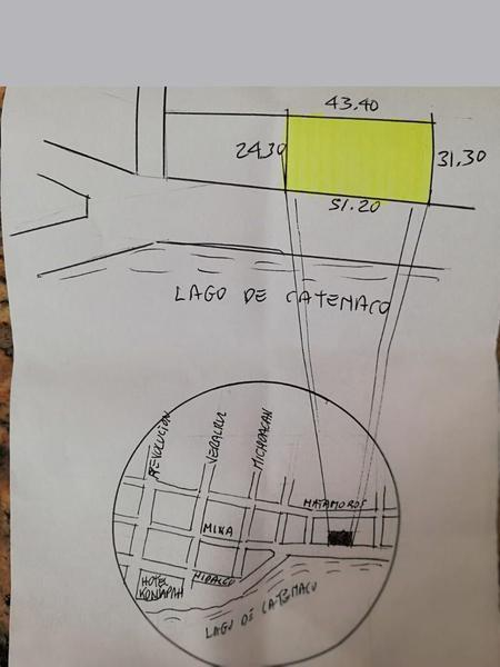 Foto Terreno en Venta en  Lindavista,  Catemaco          TERRENO EN VENTA FRENTE A LA LAGUNA DE CATEMACO VERACRUZ