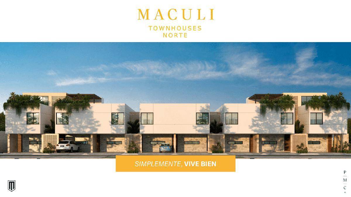 Foto Departamento en Venta en  Montes de Ame,  Mérida  Maculi Townhouses Norte. En la zona de mayor crecimiento y desarrollo en general de Mérida Montes de Ame.