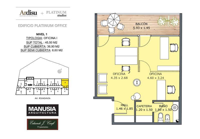 Foto Oficina en Venta en  Castelar Norte,  Castelar  Platinum Office - Rivadavia 19.861 (1I)