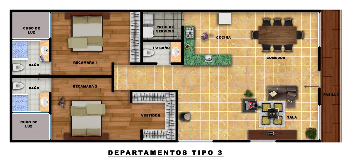 Foto Departamento en Venta en  Pueblo Temozon Norte,  Mérida  Departamento venta en Merida- amenidad, canal de nado- temozon norte