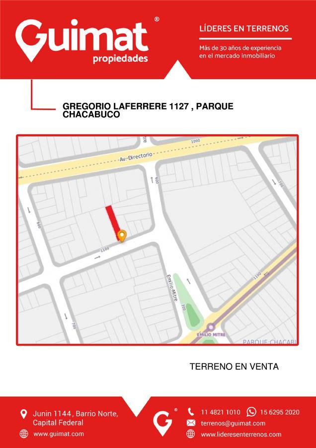 Foto Terreno en Venta en  Parque Chacabuco ,  Capital Federal  GREGORIO LAFERRERE al 1100