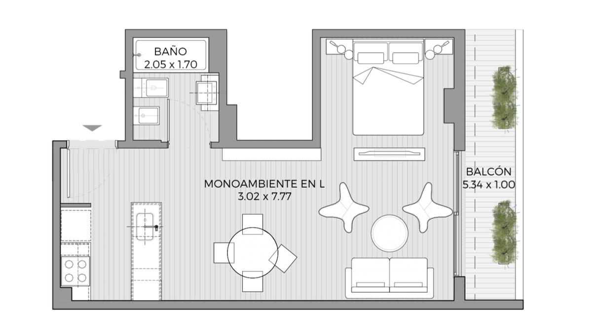 Foto Oficina en Venta en  Palermo ,  Capital Federal          Av. Cordoba 6072 - Unidad 903