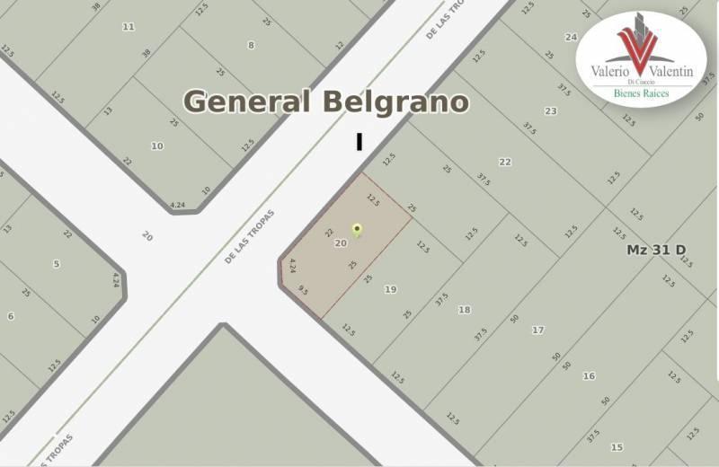Foto Terreno en Venta en  General Belgrano,  General Belgrano  Calle 20 esquina 33 al 100
