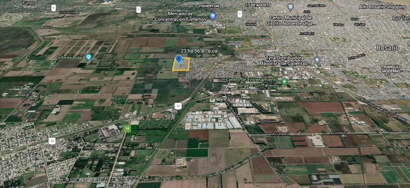 Foto Terreno en Venta en  Perez ,  Santa Fe  Sobre prolongación de calle El Hornero, limitando  con el barrio Cabin 9