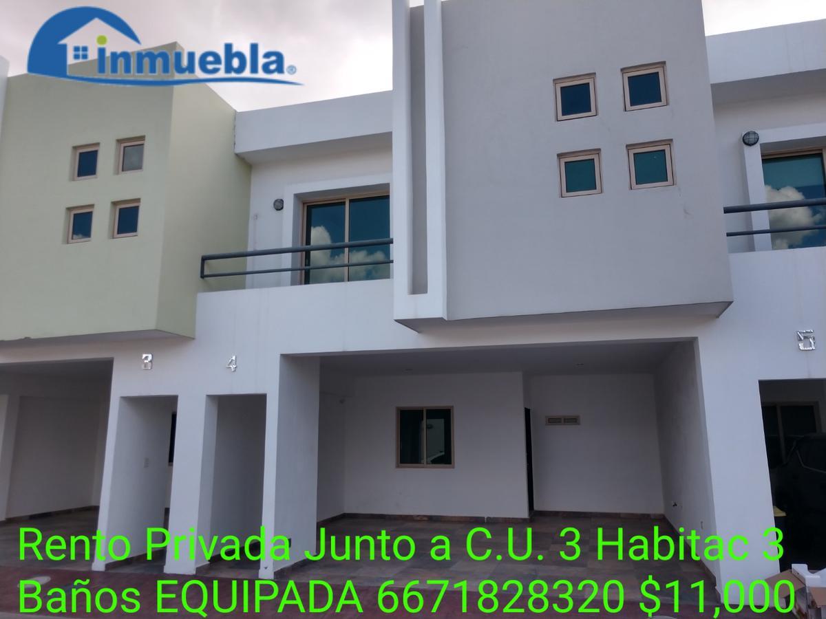 Foto Casa en Renta en  Fraccionamiento Real de Chapultepec,  Culiacán  Rento Casa Privada Junto UAS-CU 3 Habitac 3 Baños Equipada $11,000