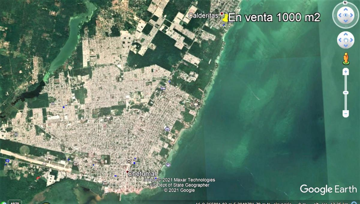 Foto Terreno en Venta en  Chetumal ,  Quintana Roo  Terreno  en Residencial Miramar en Calderitas