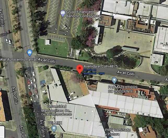 Foto Terreno en Venta en  El Colli Urbano,  Zapopan  Terreno con terraza y bodega en el Colli esquina Av. Patria