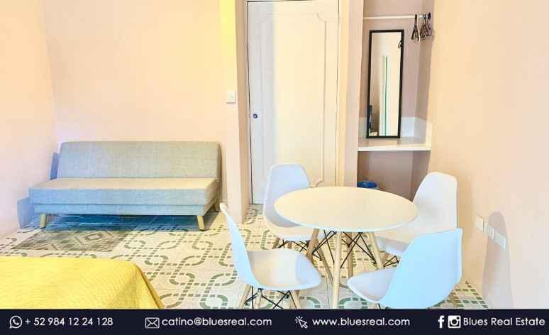 Picture Apartment in Rent in  Solidaridad ,  Quintana Roo  For rent in Playa del Carmen studio with grill in Santa Croce complex Blues Real | Code 955