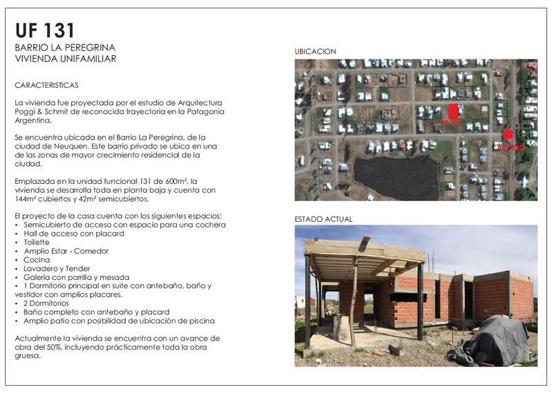 Foto Casa en Venta en  Capital ,  Neuquen  Barrio LA PEREGRINA