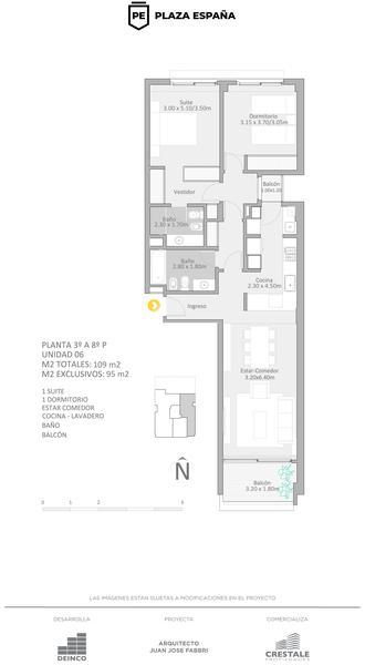 venta departamento 2 dormitorios Rosario, PLAZA ESPAÑA - Jujuy y Roca. Cod CBU22311 AP2147967 Crestale Propiedades