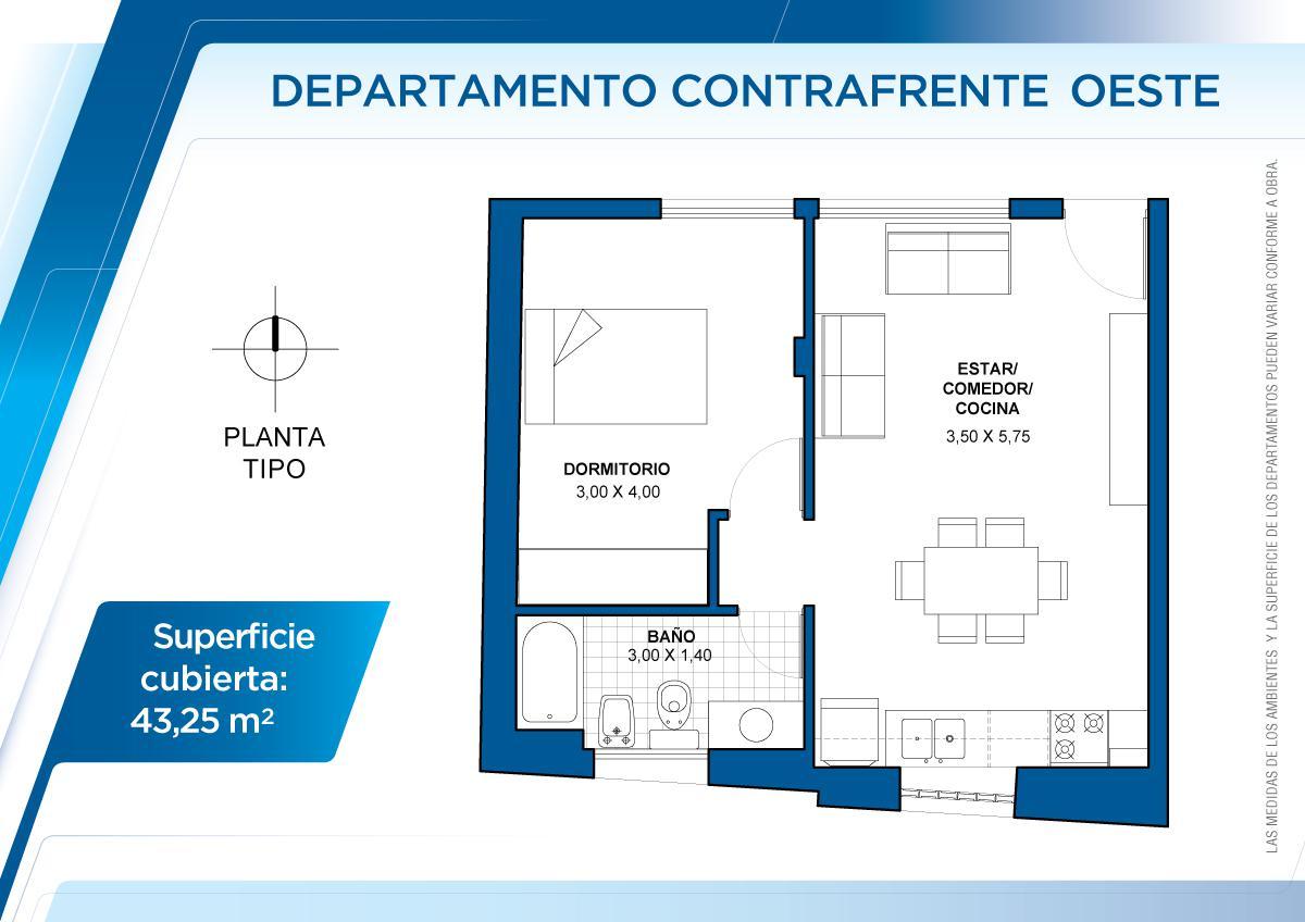 Foto Departamento en Venta en  Sur,  Santa Fe  4° piso Oste Contrafrente - 3 de febrero 3123
