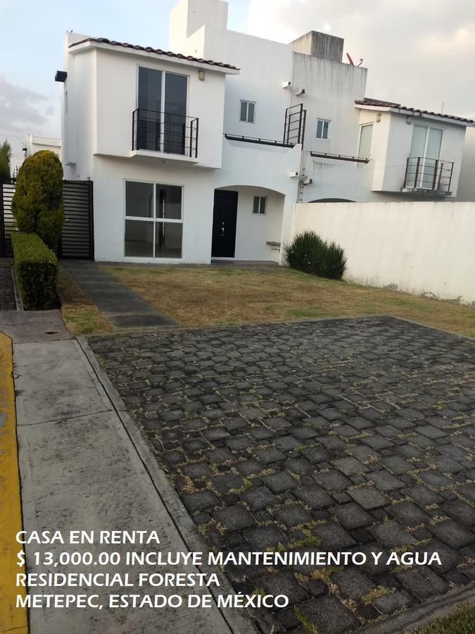 Foto Casa en condominio en Renta en  Metepec ,  Edo. de México  Casa en RENTA, Residencial Foresta, Metepec, Estado de México