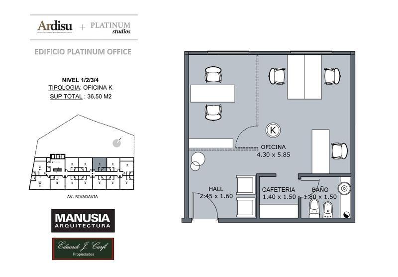 Foto Oficina en Venta en  Castelar Norte,  Castelar  Platinum Office - Rivadavia 19.861 (2K)