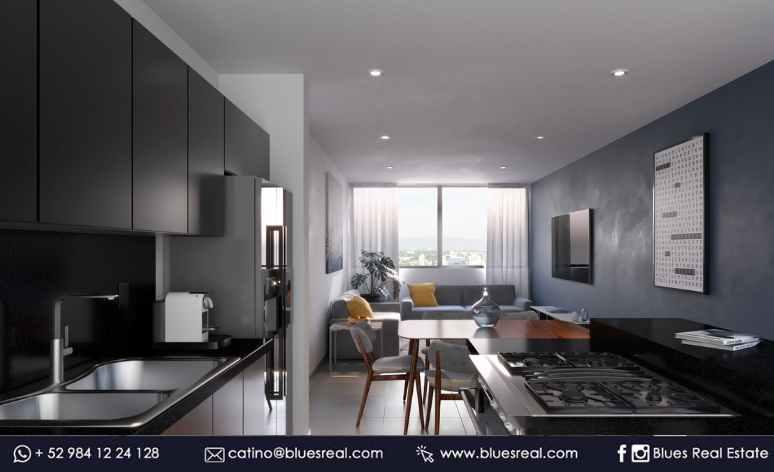 Picture Apartment in Sale in  Solidaridad ,  Quintana Roo    Amazing condos in Playa del Carmen at Black Tower| Blues Real | Code 621
