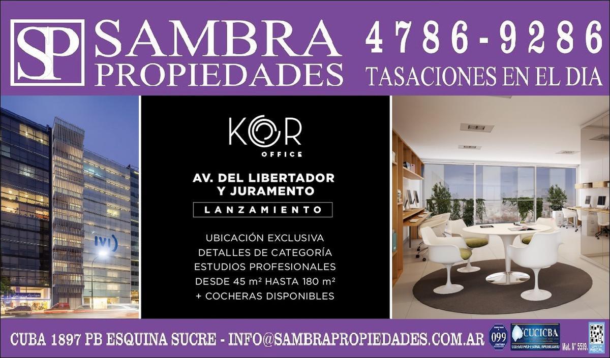 Foto Oficina en Venta en  Belgrano ,  Capital Federal  LANZAMIENTO EXCLUSIVO desde  U$S 3400 el m2. Estudios Profesionales de 45m2 a 180m2 sobre Av. del Libertador y Juramento