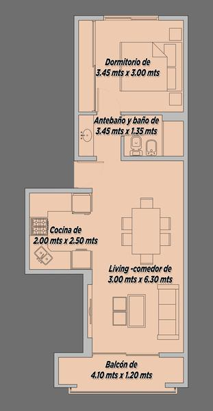 """Foto Departamento en Venta en  Ezeiza ,  G.B.A. Zona Sur  Jose Maria Ezeiza 262 STYLO II """"3°B"""""""
