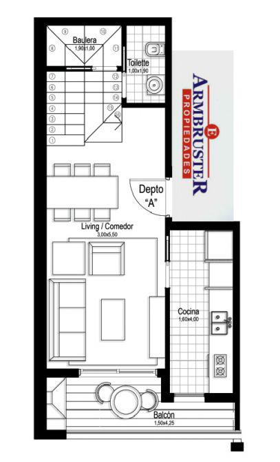 Foto Departamento en Venta en  Adrogue,  Almirante Brown  Nother 1122 Duplex A
