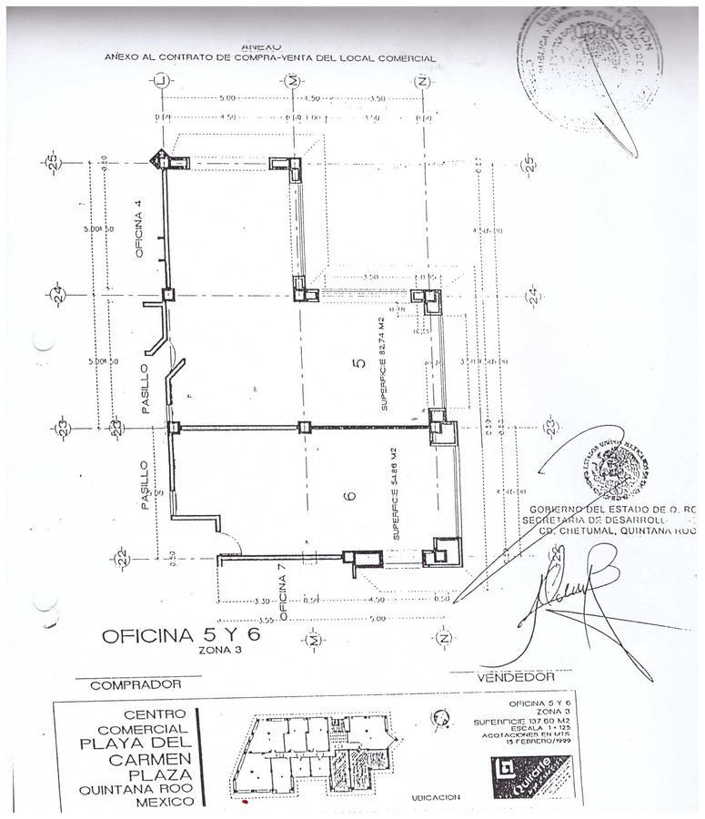 Foto Oficina en Venta en  Fraccionamiento Playa Car Fase II,  Playa del Carmen  Playacar Fase II