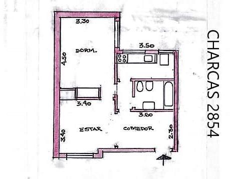 Foto Departamento en Venta en  Recoleta ,  Capital Federal  Charcas al 2800 1º piso - Excelente Departamento
