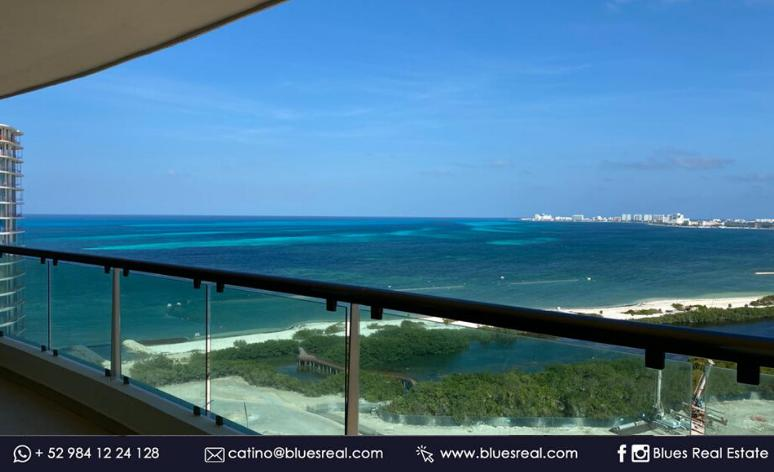 Picture Apartment in Sale in  Benito Juárez ,  Quintana Roo  New apartment for sale in Puerto Cancun in Novo Cancun | Blues Real | Code 961