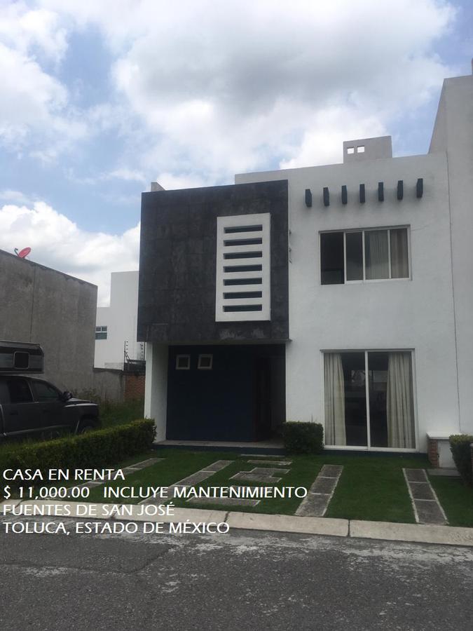 Foto Casa en condominio en Renta en  Toluca ,  Edo. de México  Casa en RENTA, Fuentes de San José, Toluca, Estado de México