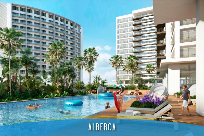 Foto Departamento en Venta en  El Table,  Cancún  Desarrollo Brezza Towers. Departamentos de Lujo. Tipo A. 110 m2 de 2 recs. El Table, Cancún