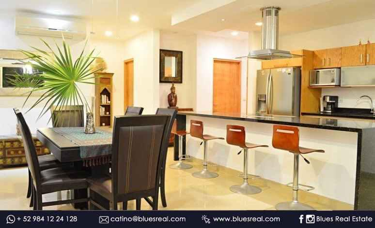 Picture Apartment in Rent in  Solidaridad ,  Quintana Roo  Furnished, spacious and bright luxury apartment for rent in Studio One - Code 903