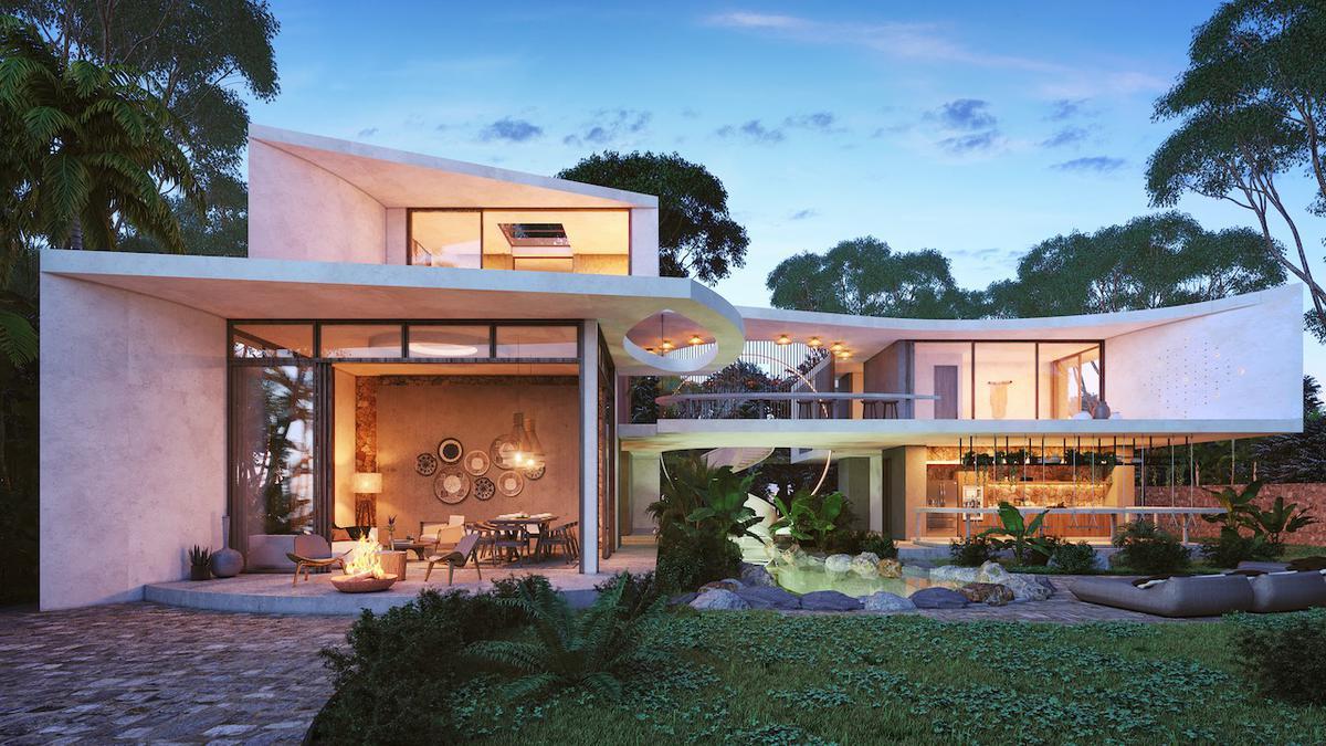 Foto Casa en Venta en  Tulum ,  Quintana Roo  ESPECTACULAR VILLA DE 3 NIVELES  - AREA RESIDENCIAL - 8 HAB. Y EXTENSA AREA VERDE- TULUM