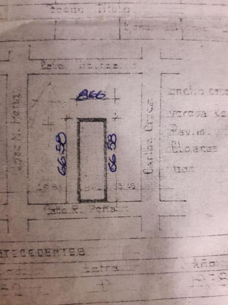 Foto Terreno en Venta en  Banfield Oeste,  Banfield  R. PEÑA 859  e. C.Crocce y J.M.Pena