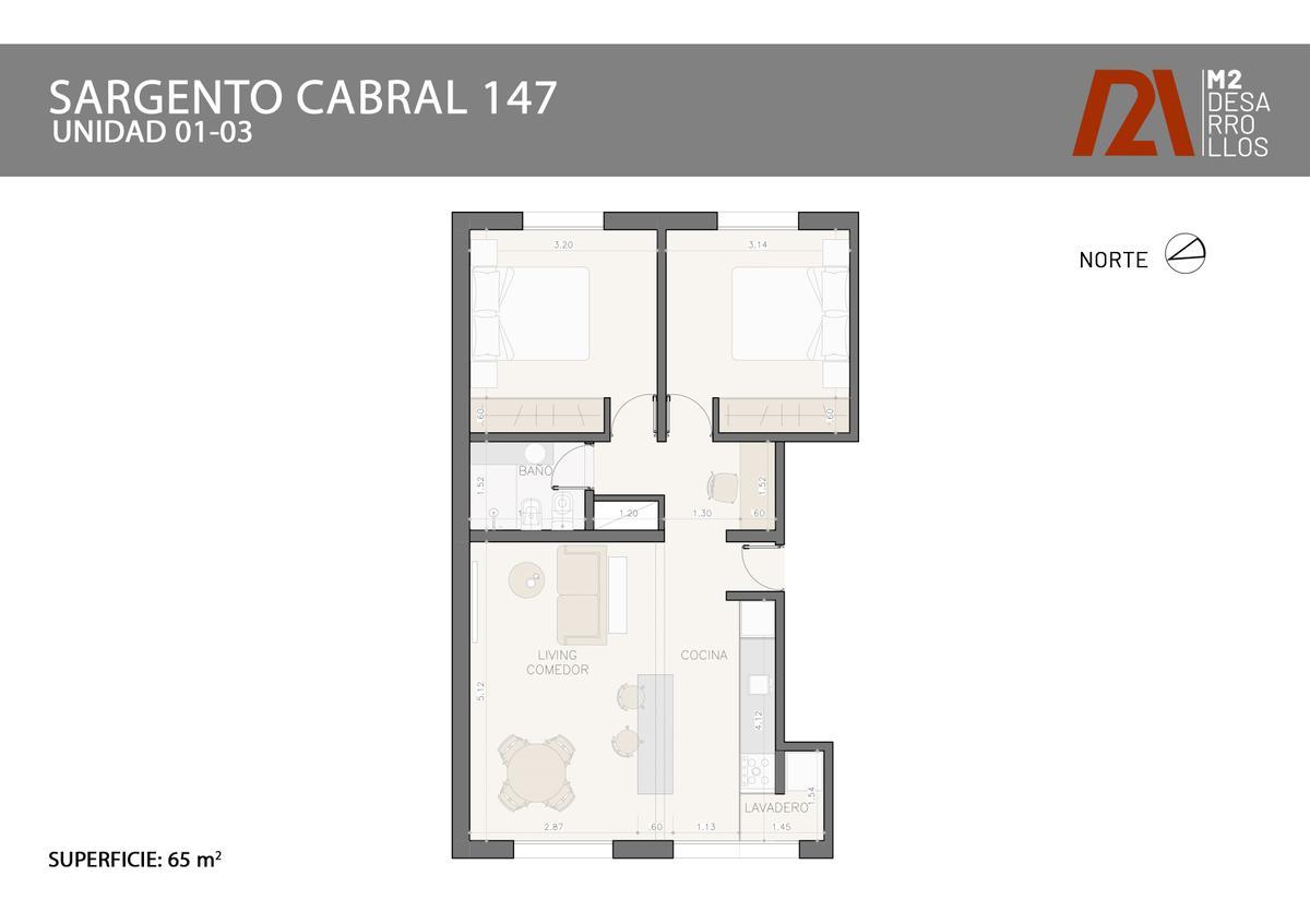 Foto Departamento en Venta en  Centro,  Rosario  Sargento Cabral 147 01-03