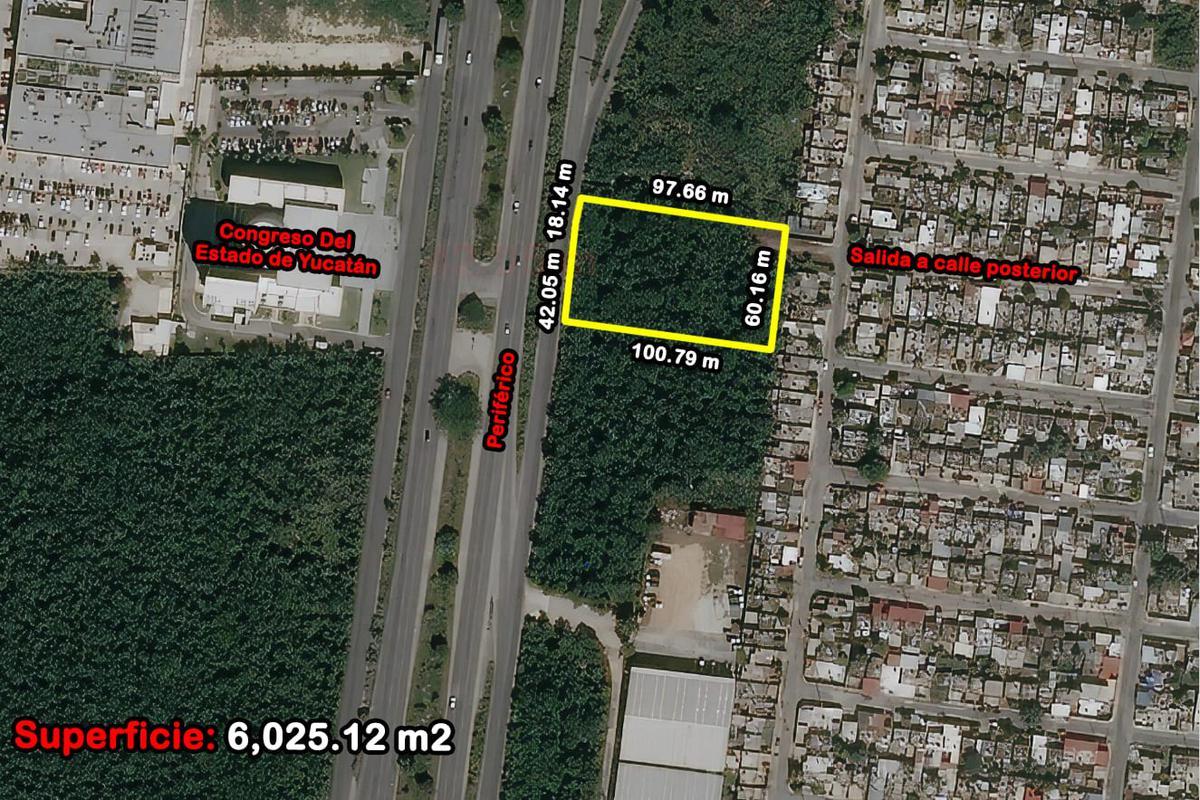 Foto Terreno en Venta en  Fraccionamiento Juan Pablo,  Mérida  Terreno De 6,025.12 m2 En Periférico Poniente