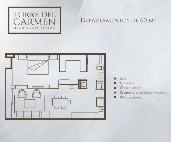 Foto Departamento en Renta en  Aguascalientes ,  Aguascalientes  Renta de departamentos en Torre del carmen