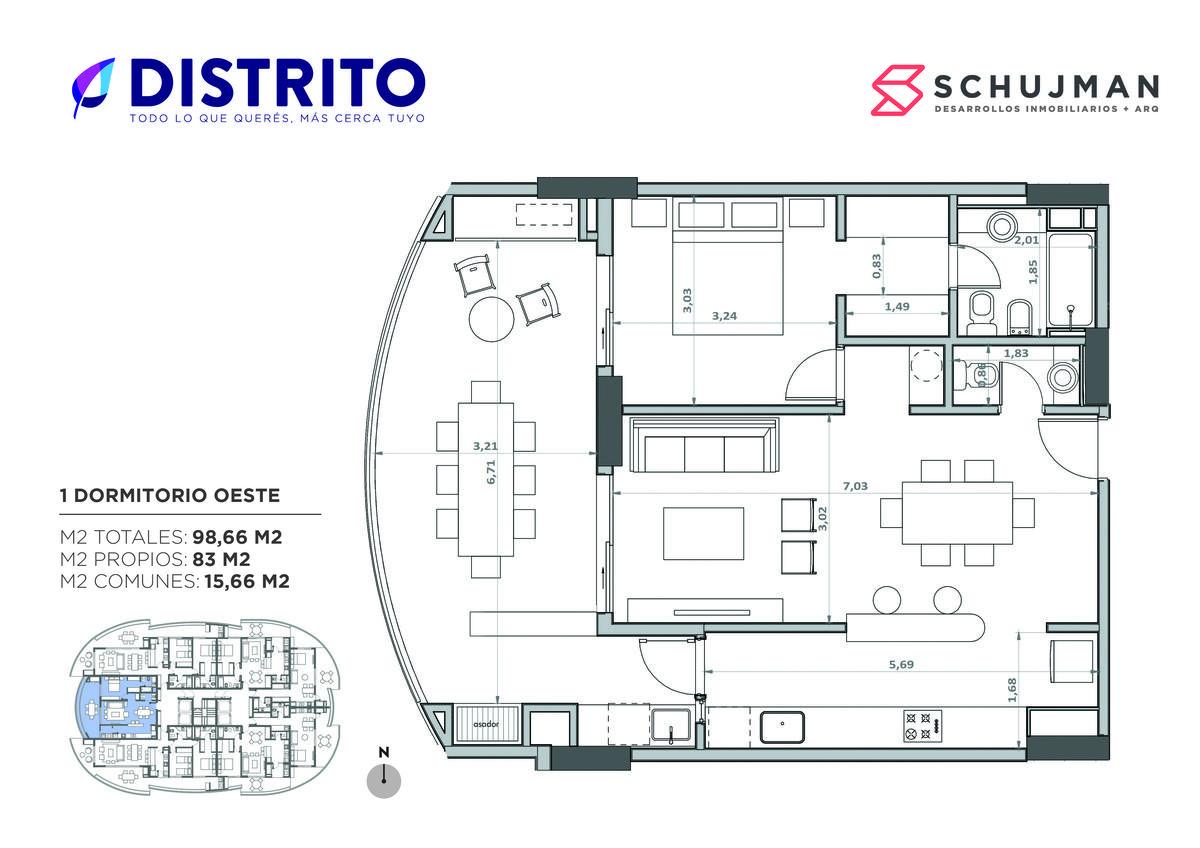 Foto Departamento en Venta en  San Miguel De Tucumán,  Capital  VENTA 1 dormitorio Oeste Torre del Jacaranda 2