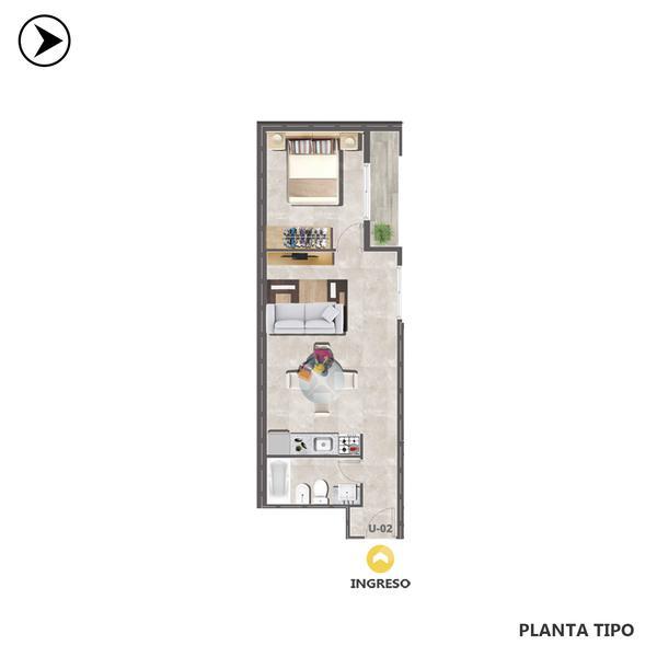 venta departamento 1 dormitorio Rosario, LAGOS 600. Cod CBU30692 AP2903080 Crestale Propiedades