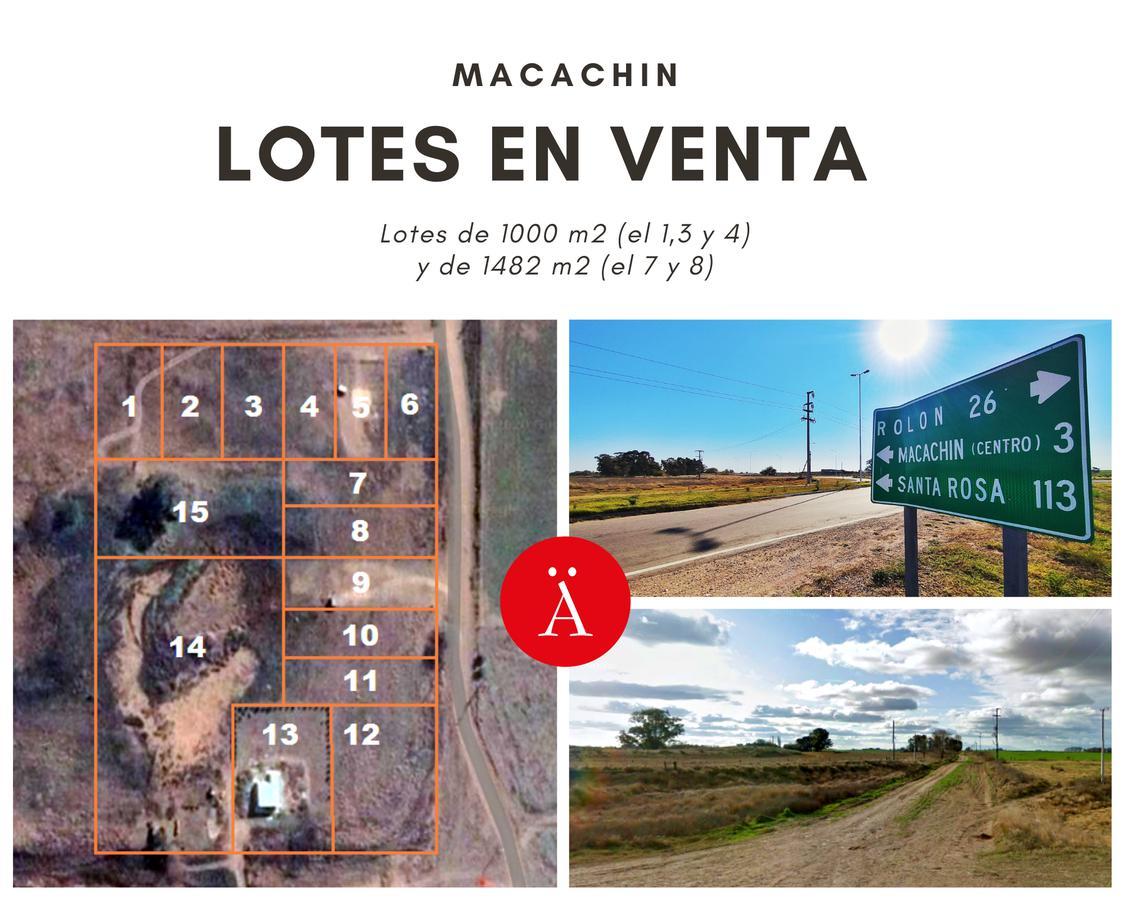 Foto Terreno en Venta en  Macachin,  Atreuco  s/ Calle Vecinal Lotes 1,3 y 4 - Macachin