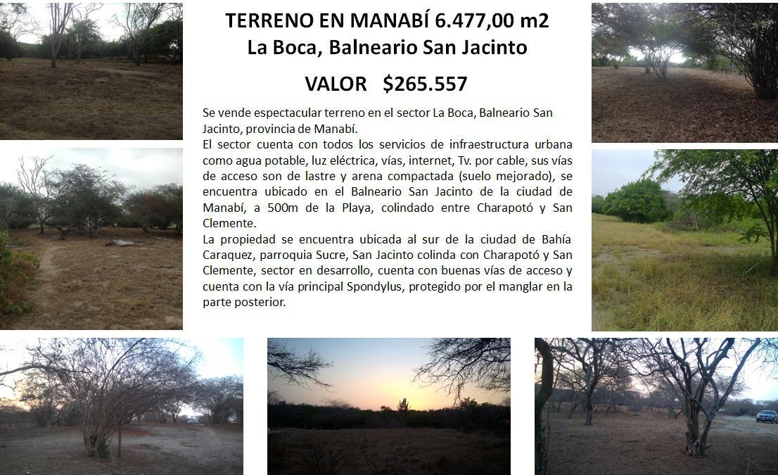 Foto Terreno en Venta en  Portoviejo ,  Manabí  Sector la Boca, Balneario San Jacinto , Manabí