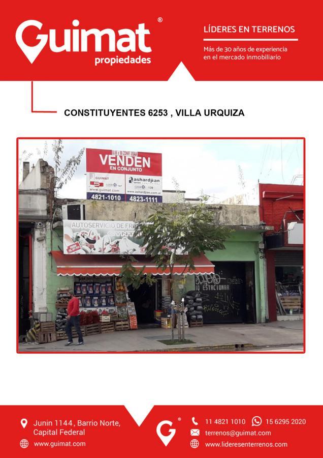 Foto Terreno en Venta en  Villa Urquiza ,  Capital Federal  CONSTITUYENTES al 6200