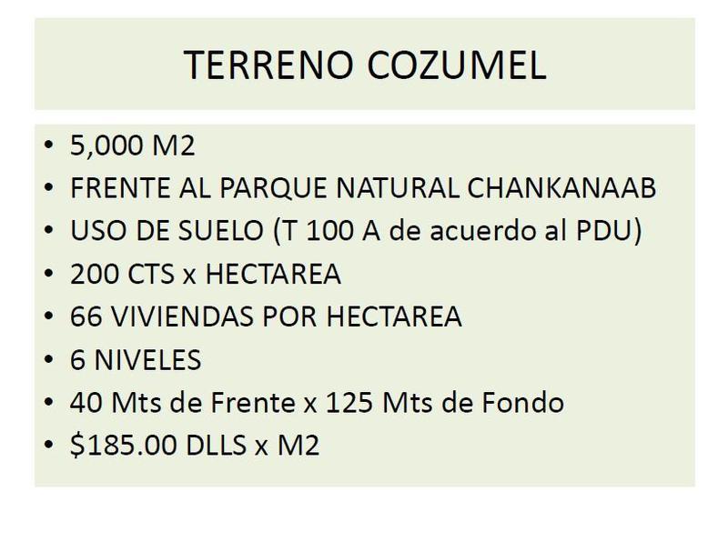 Foto Terreno en Venta en  Zona Hotelera Sur,  Cozumel  Zona Hotelera Sur