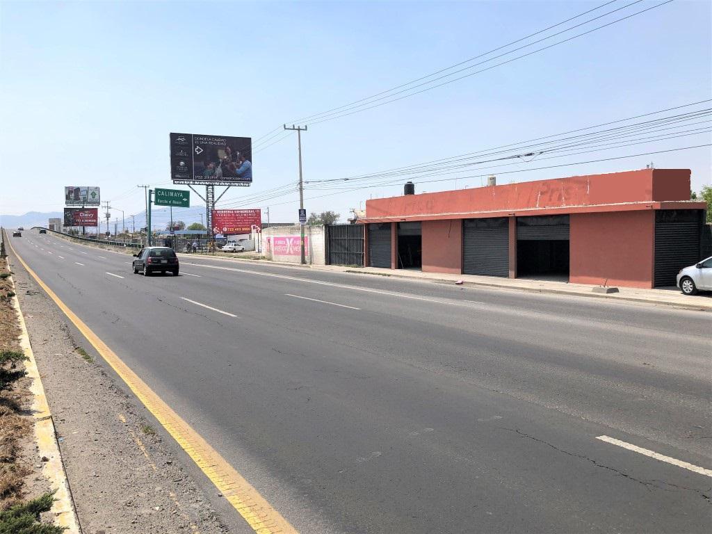 Foto Terreno en Renta | Venta en  Calimaya,  Calimaya  TERRENO Y LOCALES EN RENTA SOBRE LA  CARRETERA DEL PUENTE DE CALIMAYA
