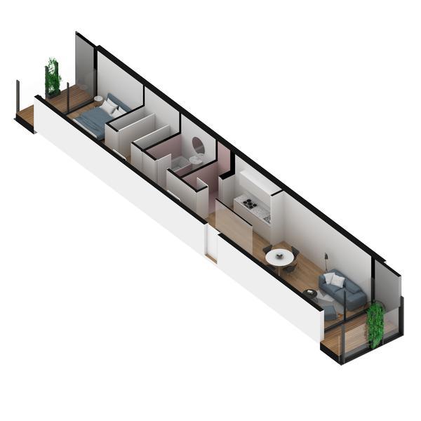 venta departamento 1 dormitorio Rosario, GUEMES Y DORREGO. Cod CBU29110 AP2680350 Crestale Propiedades