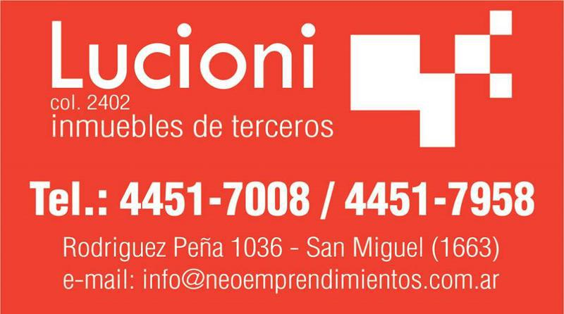 Foto Departamento en Venta en  San Miguel ,  G.B.A. Zona Norte  AVENIDA PRESIDENTE PERON AL 1600 - DEPARTAMENTO 4 AMBIENTES CON BALCON AL FRENTE. APTO USO PROFESIONAL