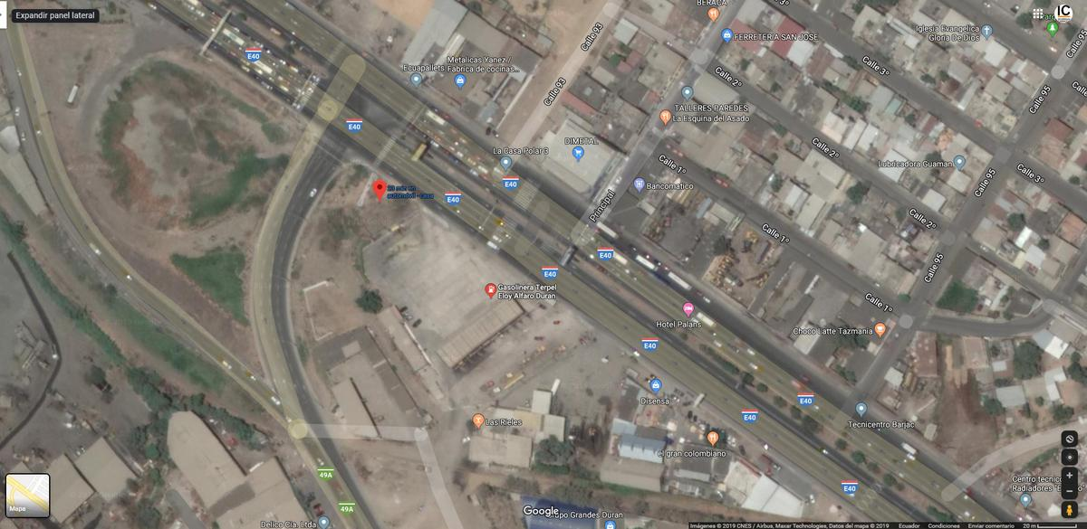 Foto Terreno en Venta en  Norte de Durán,  Durán  Duran - Boliche km 3, Av Nicolas Lapenti.  se vende terreno comercial al 600
