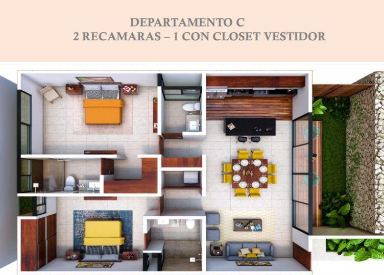 """Foto Departamento en Venta en  Pueblo Temozon Norte,  Mérida  BELLOS DEPARTAMENTOS EN TEMOZON NORTE; EN CORAZÓN DE TIERRA """"C"""""""